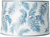 One Kings Lane Palm Hand-Painted Lampshade - Blue/White