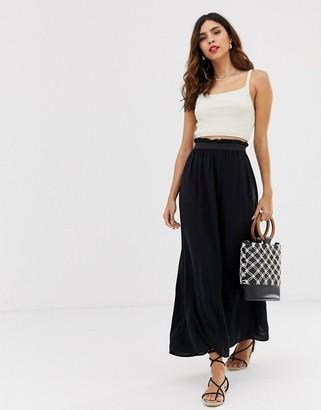 Vero Moda jersey maxi skirt-Black