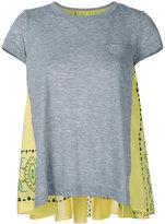 Sacai printed back T-shirt - women - Linen/Flax/Polyester - 2