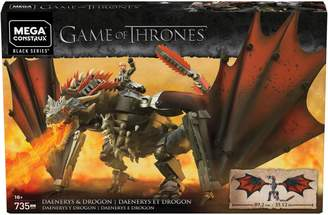 Mega Bloks Game of Thrones Daenerys Drogon Building Toy