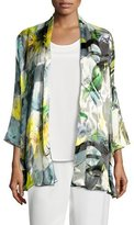 Caroline Rose Sheer Delight Devore Mid Cardigan, Petite
