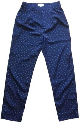 agnès b. Blue Trousers for Women