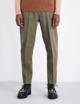 Stella McCartney Tapered wool-blend trousers
