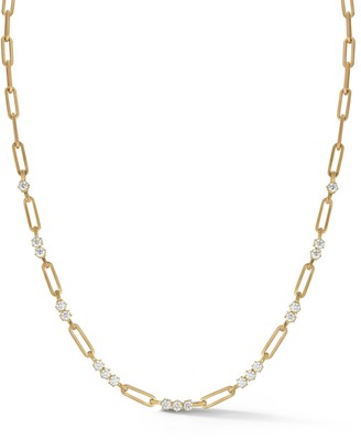 Jade Trau Pia Diamond Chain Necklace