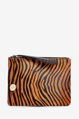 Oasis Womens Natural Tiger Leather Pouch - Natural