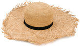 Inverni contrast band hat - women - Straw - One Size