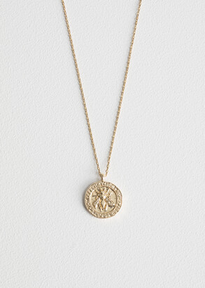 And other stories Bee Embossed Pendant Necklace