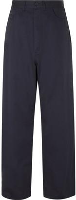 Balenciaga Cotton-Twill Trousers - Men - Blue
