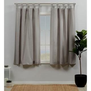 ATI Home Loha Linen Braided Tab Top Window Curtain Panel Pair