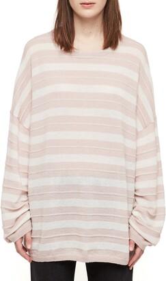 AllSaints Cassia Stripe Boat Neck Sweater