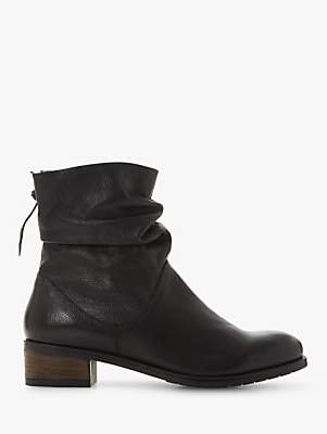 Dune Wide Fit Pagerss Ruched Ankle Boots