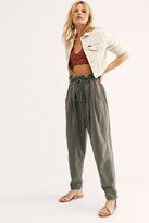 We The Free Margate Pleated Trouser by at Free People, Washed Black, XS