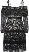Needle & Thread Supernova Off-the-shoulder Ruffled Embellished Tulle Mini Dress