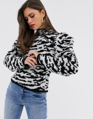 Asos DESIGN borg animal sweater