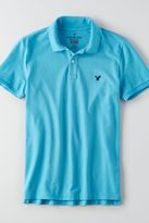 American Eagle Outfitters AE Flex Solid Pique Polo