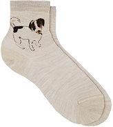 "Maria La Rosa Women's ""One Ankle Dog"" Silk-Blend Ankle Socks"