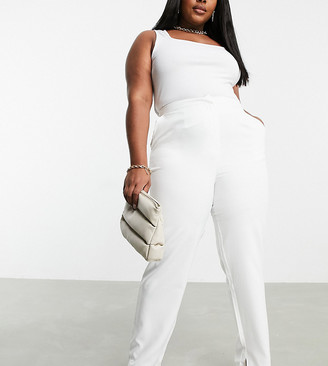 Club L London Plus Club L London tailored pants in white