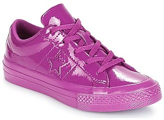 Converse ONE STAR SYNTHETIC OX girls's Shoes (Trainers) in Purple