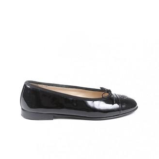Chanel Black Patent leather Ballet flats