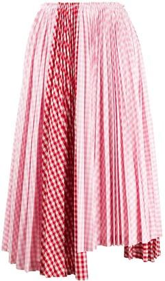 COMME DES GARÇONS GIRL Asymmetric Pleated Midi Skirt