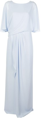 Halston Draped Long Gown