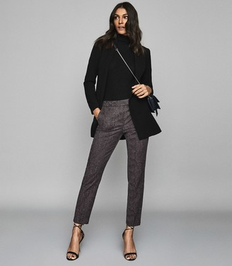 Reiss VIVIANNA SNAKE PATTERNED TROUSERS Grey