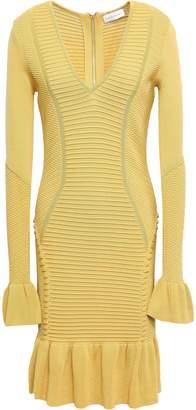 Rebecca Vallance Ionian Ribbed-knit Mini Dress