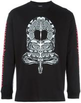 Marcelo Burlon County of Milan snake print T-shirt - men - Cotton/Polyester - XS