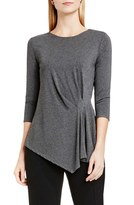 Vince Camuto Women's Side Pleat Asymmetrical Top