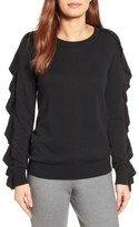 Women's Halogen Ruffle Sleeve Sweater