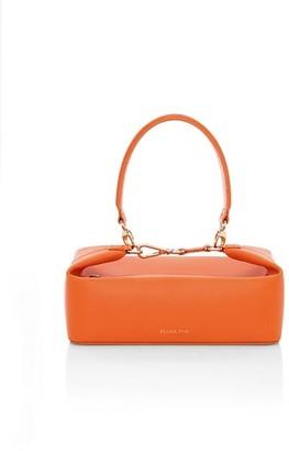 REJINA PYO Olivia Lizard-Embossed Leather Top Handle Bag