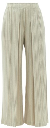 Pleats Please Issey Miyake Technical-pleated Trousers - Beige