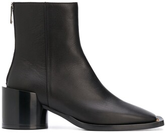 MM6 MAISON MARGIELA Square-Toe Leather Ankle Boots