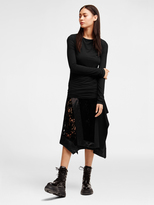 DKNY Mixed Media Wrap Skirt