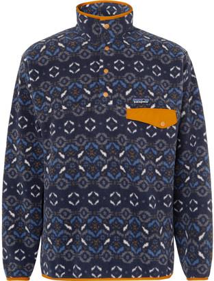 Patagonia Snap-T Nylon-Trimmed Synchilla Fleece Sweatshirt