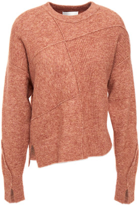 3.1 Phillip Lim Patchwork-effect Brushed Ribbed-knit Sweater