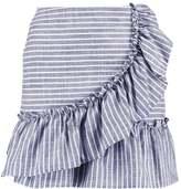 Miss Selfridge STRIPE Mini skirt blue