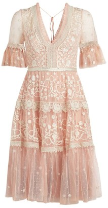 Needle & Thread Midsummer Floral Embroidered Dress