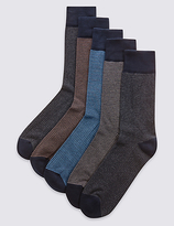 M&S Collection 5 Pairs of Cool & FreshfeetTM Cushioned Sole Socks