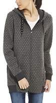 Bench Women's Long Zip Through Hoody Sweat Jacket,X-Small