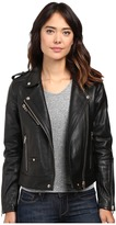 Blank NYC Real Leather Moto Jacket in The One