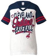 5th & Ocean Girls' Cleveland Indians Team Glitter T-Shirt