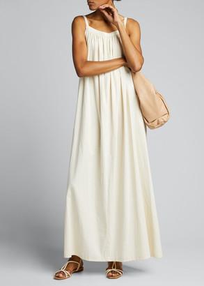 Moussy Gathered Cotton Maxi Dress
