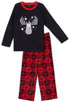 Petit Lem Holiday Two-Piece Moose Printed Pajama Set