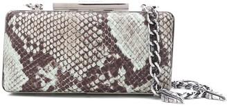 Just Cavalli Snakeskin Print Clutch Bag
