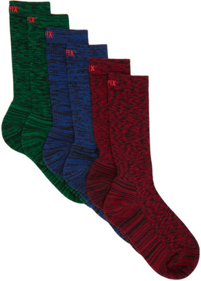 AFFIX Three-Pack Multicolor Static Socks