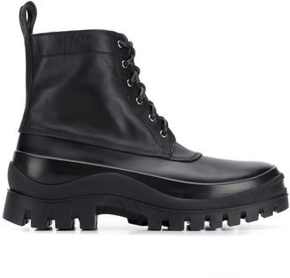 Jil Sander Lace-Up Ankle Boots