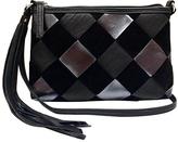 Black Color Block Top-Zip Crossbody Bag