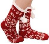 Sheliky Slipper Socks Women Tube Socks Christmas Stocking Fleece Lining Winter Knit Sock