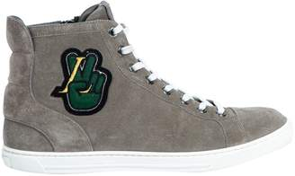 Louis Vuitton Grey Suede Trainers